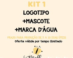 KIT 1 IDENTIDADE VISUAL CO MASCOTE
