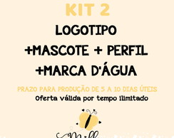 KIT 2 IDENTIDADE VISUAL CO MASCOTE