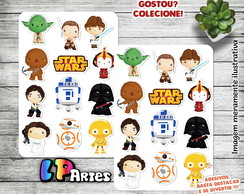 Stickers - Cartela de adesivos - StarWars
