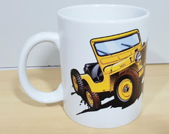 Caneca jeep off road willys Wrangler