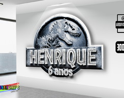 Arte Digital Logo Personalizado Jurassic World