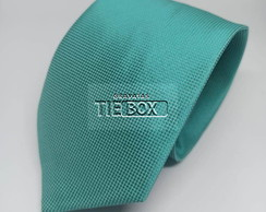 Gravata Verde Tiffany Semi Slim Quadricu