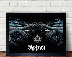 Quadro Decorativo Deitado Slipknot A3