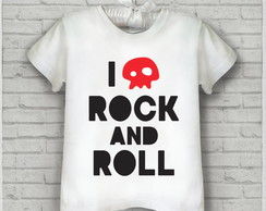 "Camiseta Rock infantil ""I love rock 'n' roll"""