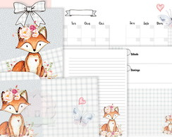 (DIGITAL) KIT PLANNER FOX FLOWER A5