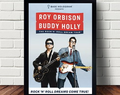 Quadro Poster Do Guitarrista Buddy Holly A302