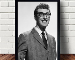 Quadro Poster Do Guitarrista Buddy Holly A303