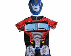 Fantasia Optimus Prime Transformes Infantil