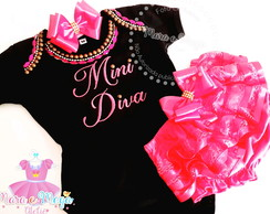 Body Bordado Mini Diva + Calcinha