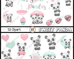 Kit Digital Sweet Panda Aquarelado