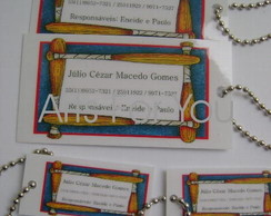"Kit com 02 tags ""M"" e 02 ""Mini"" tags"