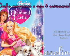 Convite Digital Barbie Castelo de Diamante