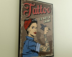 Quadro Decorativo A4 Poster Tattoo