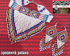 Conjunto Chocker e Brinco Native
