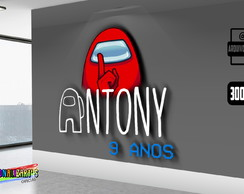 Arte Digital Logo Personalizado Among Us