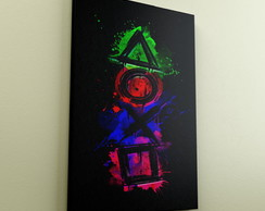 Quadro Decorativo A4 Games Playstation
