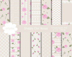 Papel Digital Shabby Chic Nude
