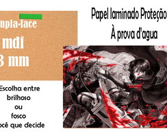 Placa A4 attack on titan