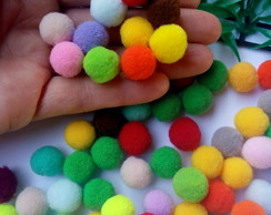 50 Pompom Mix Color 15mm
