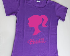 camiseta feminina barbie baby look