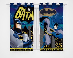 Cortina Infantil Decorativa Blackout Batman (2,60x1,30)