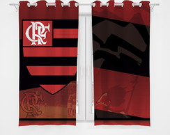Cortina Infantil Decorativa Blackout Flamengo (2,60x1,30)