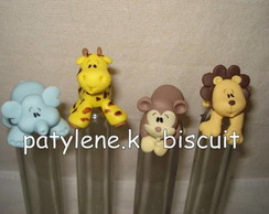 TUBETE DECORADO SAFARI DE BISCUIT KIT1