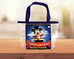 Bolsa transparente circo do mickey