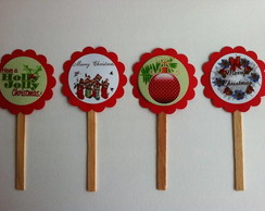 Cupcake toppers - Natal