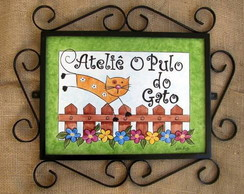 Placa Ateliê O Pulo do Gato