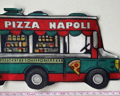 Patch aplique termocolante Food Truck Pizza Grande
