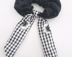 Scrunchie Romantica Vichy Bordado