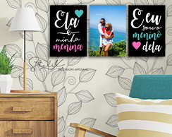 Kit Quarto de Casal - 3 Placas Decorativas