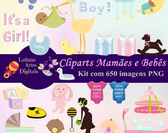 Kit Digital Scrapbook: Cliparts Mamães e Bebês
