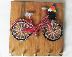 Porta-chaves String Art Bicicleta