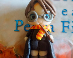 Aplique em Biscuit - Mini Harry Potter