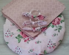 Kit completo 3 lugares - Floral rosa