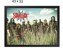 Quadro Decorativo Slipknot Horizontal