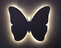 Borboleta Com led Decorativa