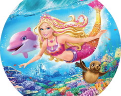 BARBIE MERMAID MINI PAINEL 70CM
