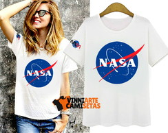 Camiseta feminina Nasa moda fashion