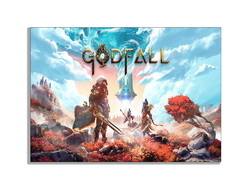 Placa Quadro Decorativo Godfall PlayStation 5