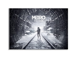 Placa Quadro Decorativo metro exodus games playstation 4