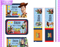Arquivo digital etiquetas escolar Toy Story