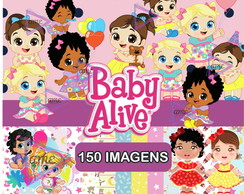 Kit Digital Baby Alive Scrapbook Arquivo Png