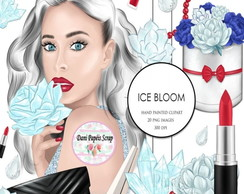 Kit Digital ice bloom clipart