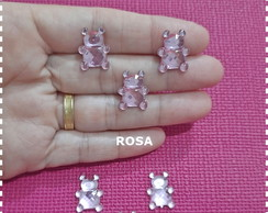 APLIQUE/CHATON URSO ROSA 15MM