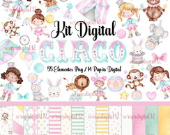Kit Digital - Circo Candy Colors