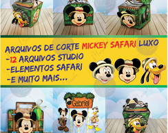 KIT Mickey Safari - Arquivos de Corte