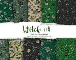 Kit Papel digital - Witch Green #P221